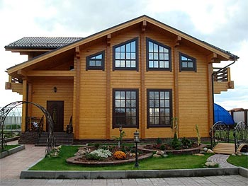 Laminated log houses (Kiev)
