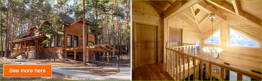 Turnkey wooden houses projects and prices, Kiev, Ukraine