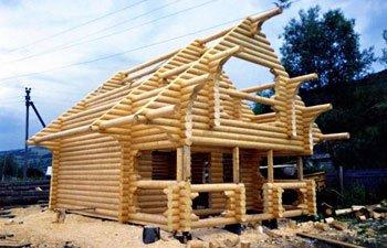 Дачный дом - технология дикий сруб