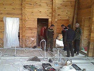 Деревянные дома реставрация шлифовка