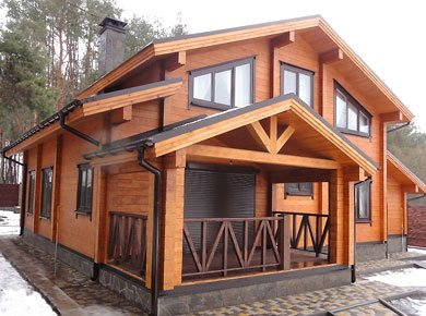 Wooden laminated log house (turnkey)