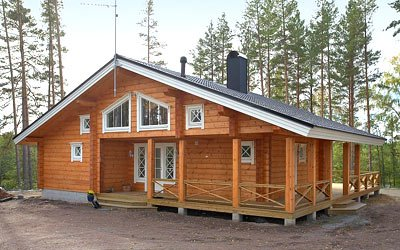 Laminated log house construction (price)